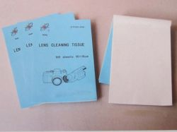 Lens Cleaning Paper, Lens Cleaning Tissue